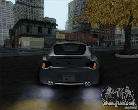 BMW Z4M pour GTA San Andreas sur la vue arrière gauche