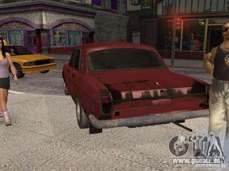 Volga Gaz M24-Rusty Tod für GTA San Andreas zurück linke Ansicht