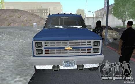 Chevrolet Silverado 3500 für GTA San Andreas rechten Ansicht