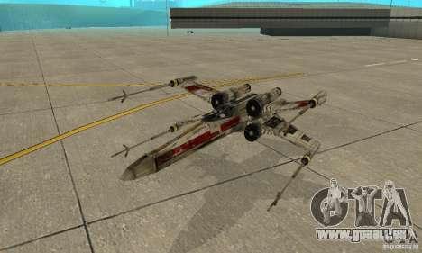 X-WING von Star Wars v1 für GTA San Andreas obere Ansicht