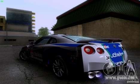 Nissan GTR R35 Tuneable pour GTA San Andreas vue arrière