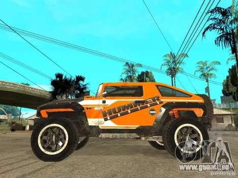 Hummer HX Concept from DiRT 2 pour GTA San Andreas laissé vue