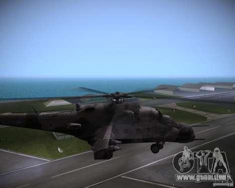 Mi-35 pour une vue GTA Vice City de la droite