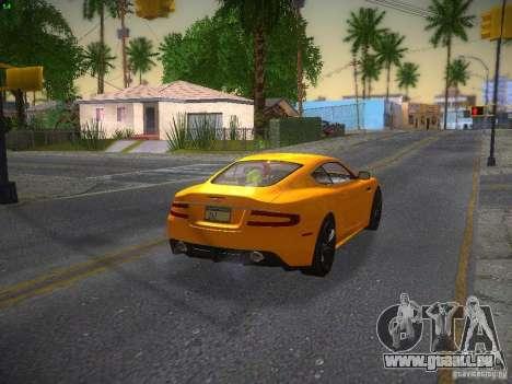 Aston Martin DBS für GTA San Andreas zurück linke Ansicht