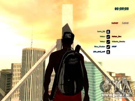 Sac à dos-parachute pour GTA: SA pour GTA San Andreas