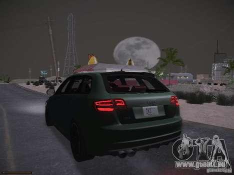 Audi RS3 2011 pour GTA San Andreas vue de dessus