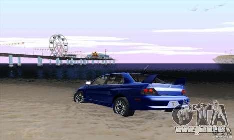 Mitsubishi Lancer Evolution 9 MR Edition pour GTA San Andreas vue de droite