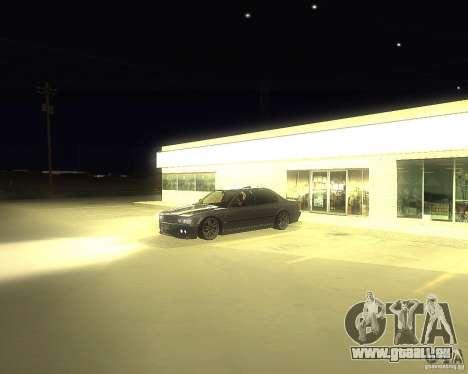 BMW 740i Update pour GTA San Andreas vue de droite