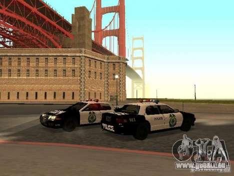 Police Civic Cruiser NFS MW für GTA San Andreas zurück linke Ansicht