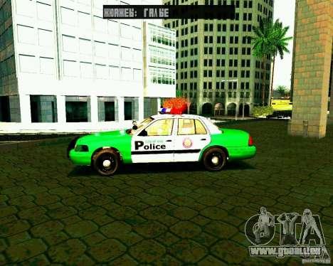 Ford Crown Victoria 2003 Police Interceptor VCPD pour GTA San Andreas laissé vue