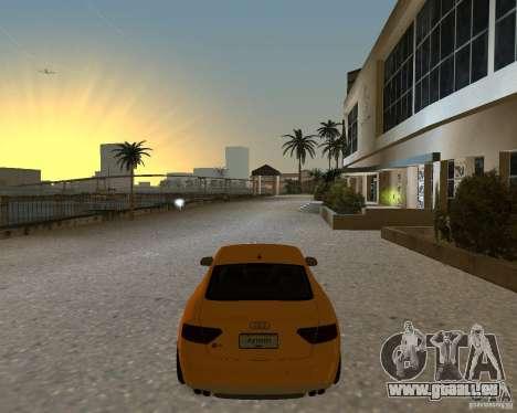 Audi S5 pour GTA Vice City sur la vue arrière gauche