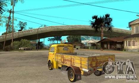 Tempo Matador 1952 Bus Barn version 1.1 pour GTA San Andreas sur la vue arrière gauche