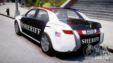 Carbon Motors E7 Concept Interceptor Sherif ELS pour GTA 4 est un côté