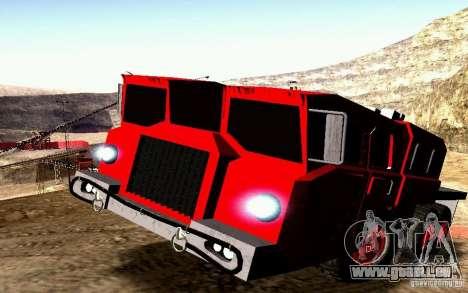 MAZ-7310 civile Version étroite pour GTA San Andreas vue de dessus
