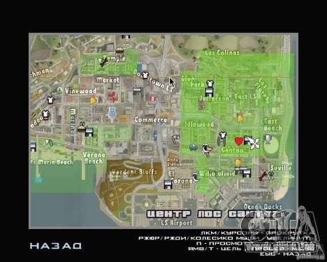 Neue Kartensymbole für GTA San Andreas