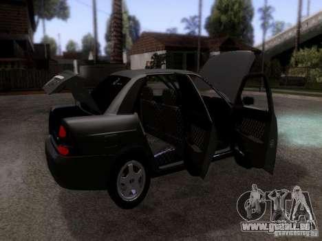 LADA Priora 2170 pour GTA San Andreas vue intérieure