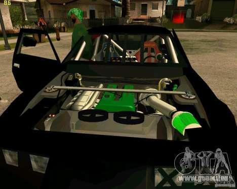 Hotring Racer Tuned pour GTA San Andreas vue de dessous