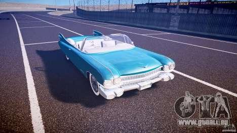 Cadillac Eldorado 1959 interior white pour GTA 4 est une vue de l'intérieur