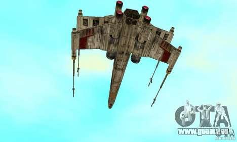 X-WING de Star Wars v1 pour GTA San Andreas laissé vue