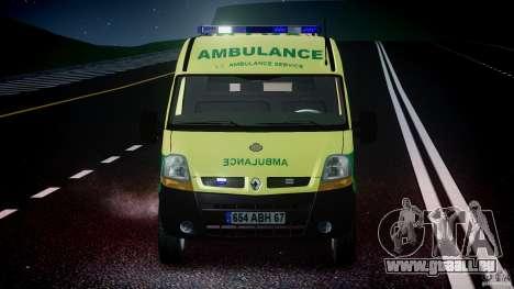 Renault Master 2007 Ambulance Scottish [ELS] pour GTA 4 Salon