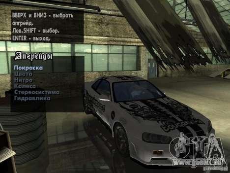Nissan Skyline GT-R34 V-Spec pour GTA San Andreas vue de droite