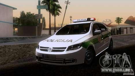 Volkswagen Voyage Policija pour GTA San Andreas laissé vue