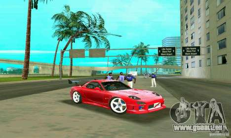 Mazda RX7 Charge-Speed für GTA Vice City obere Ansicht