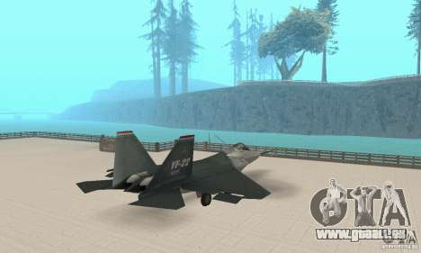 Y-f22 Lightning pour GTA San Andreas laissé vue