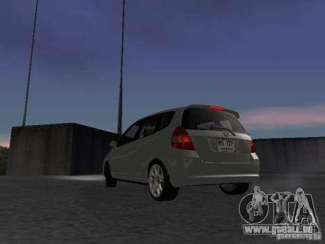 Honda Fit pour GTA San Andreas sur la vue arrière gauche