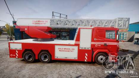 Scania Fire Ladder v1.1 Emerglights red [ELS] pour GTA 4 Vue arrière
