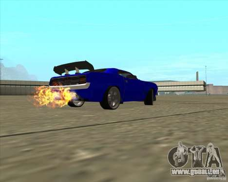 Plymouth Hemi Cuda de NFS Carbon pour GTA San Andreas vue intérieure