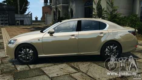 Lexus GS350 2013 v1.0 pour GTA 4 est une gauche