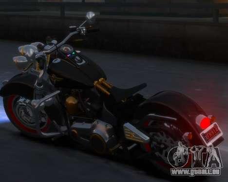 Harley-Davidson Fat Boy Lo (Vintage final) für GTA 4 hinten links Ansicht