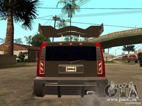 Hummer H2 NFS Unerground 2 für GTA San Andreas zurück linke Ansicht