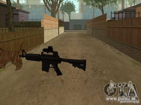 Schalldämpfer auf der M4 stattdessen Katze für GTA San Andreas dritten Screenshot