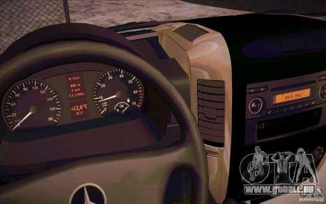 Mercedes Benz Sprinter 311 CDi pour GTA San Andreas vue arrière