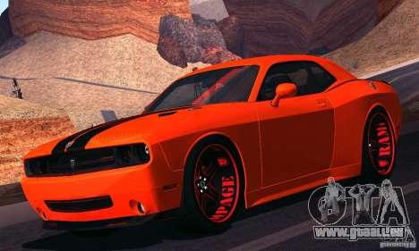 Dodge Quinton Rampage Jackson Challenger SRT8 v1 für GTA San Andreas linke Ansicht