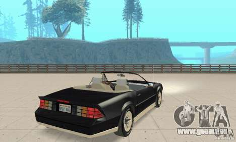 Chevrolet Camaro RS 1991 Convertible für GTA San Andreas linke Ansicht