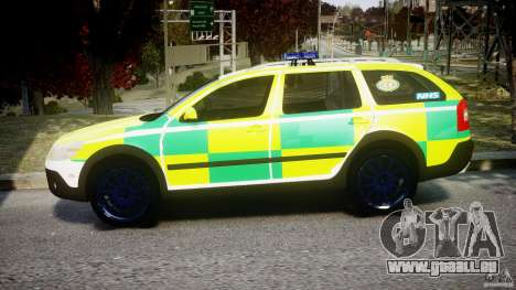 Skoda Octavia Scout Paramedic [ELS] pour GTA 4 est une gauche