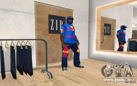 Red Bull Clothes v2.0 pour GTA San Andreas