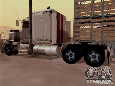 Kenworth W 900 RoadTrain für GTA San Andreas Rückansicht