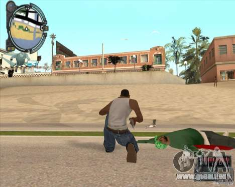 Real Weapons Drop Mod beta pour GTA San Andreas deuxième écran