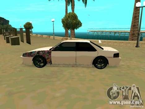 New Sultan v1.0 pour GTA San Andreas vue arrière