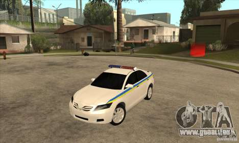 Toyota Camry 2010 SE Police UKR pour GTA San Andreas