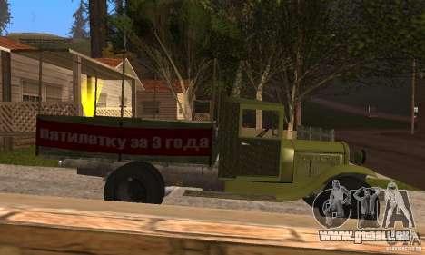 ZiS-5 pour GTA San Andreas sur la vue arrière gauche