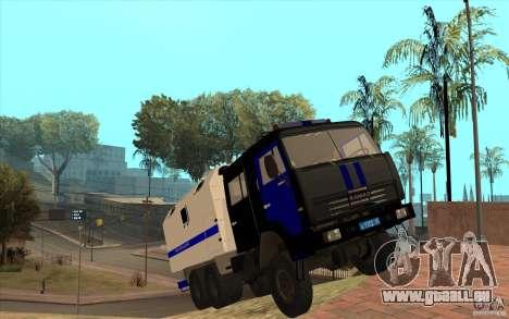 KAMAZ Police pour GTA San Andreas vue intérieure