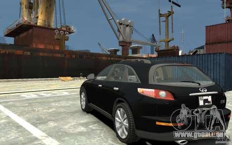 Infiniti FX45 pour GTA 4 Vue arrière de la gauche