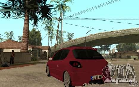 Peugeot 206 GTI CebeL Tuning pour GTA San Andreas sur la vue arrière gauche
