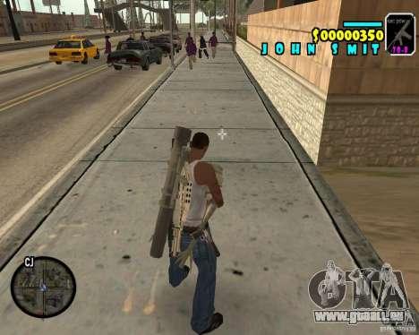 HUD Adidas pour GTA San Andreas troisième écran
