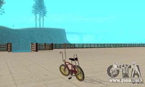 CUSTOM BIKES BIKE pour GTA San Andreas sur la vue arrière gauche